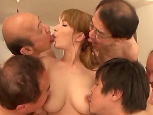 Japanese council of elders blesses the next generation in an erotic fucky-fucky ceremony
