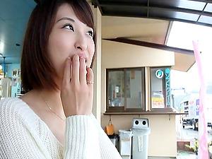 Shouko Akiyama thrills a man with her soft milky sweater