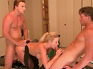 Working out with a big-chested fuck bitch and pounding her is so much joy
