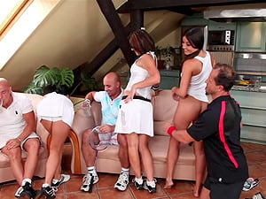 A day at the country club completes with a wild, xxx orgy