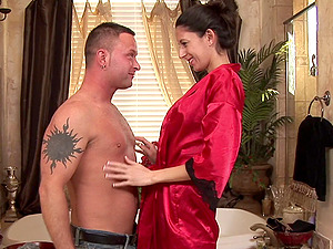 Army man pays for a rubdown but receives a blowage for free