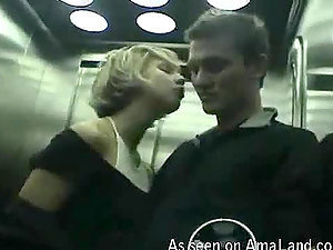 Point of view movie of a hot intensive oral job filmed in the elevator