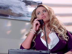 Big titties honey yells noisily in an all-styles orgasmic pounding on The Corporate Ladder