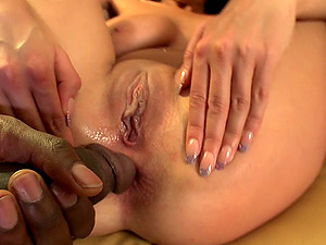 Big butt brown-haired in high heel boots gets fucked doggystyle