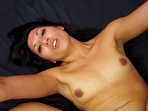 Sexy penis gobbling honey fucked hard in her bald vagina