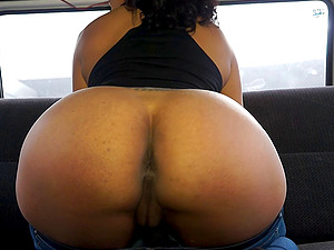 Black tart in the van to do anything he wants for an orgasm