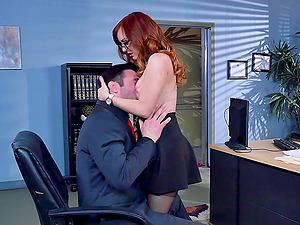 Faux tits fuckslut Dani Jensen fucked in the office