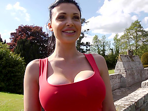 Sultry Aletta Ocean deep throats your manstick with her ideal mouth