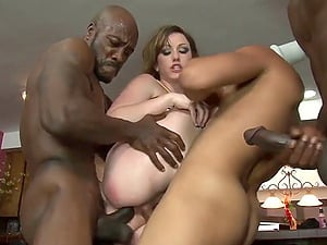 Cheerleader Jennifer Milky group-fucked by black football players