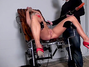 Barra Corded Ball-gagged Spanked Whipped Vibed Machine-fucked