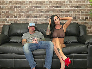 Faux titty chick Brandy Aniston fucking live and lusty