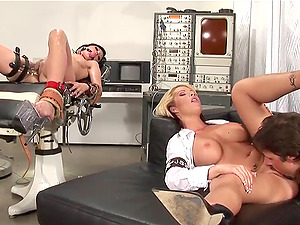 Chick in a milky uniform is banged into snatch like never before
