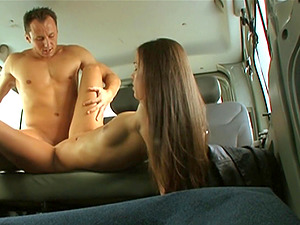 Smooth-looking stunner Victoria gets her twat tucked inwards the car