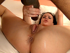 Longest black dong drills her taut milky twat like never before