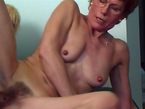 Hairy Cootchie Ginger-haired Stepmom Teenager Couch Fucked