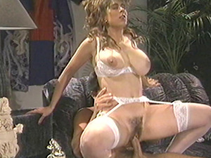 Big titty antique chick with a nice thicket takes a big hard-on