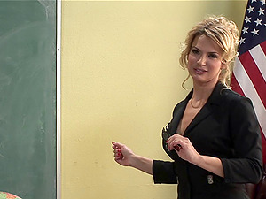 Hot instructor is a mischievous hoe for guys with big hard-ons