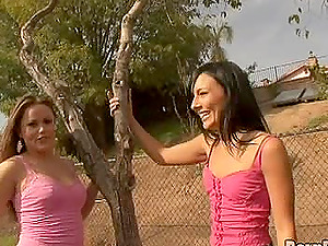 Two sexy fillies indeed love sharing a lengthy black meat pole