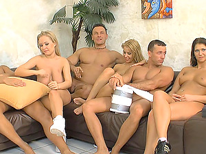 Kinky hook-up game leads the arousing gals to the best orgy of their lives