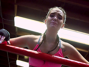 Finest boxing stunner agrees to do some wild manstick railing in the ring