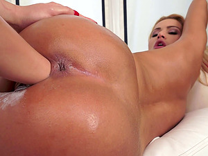 Kinky ginger-haired is blessed to thrust her entire knuckle into her friend's fuck-hole