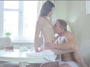 Zena is once again groaning as the man takes her in a missionary way