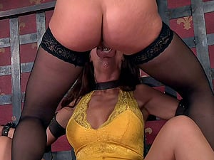 Sugary mature wench has some kinky joy in the basement