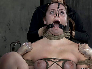 Horny mistress determines to torment the sweet beaver of her fresh prisoner