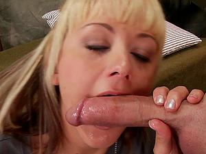 All that the sweet blonde Briana Blair needs right now is a jizz-shotgun rail!