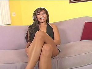 Sucky fucky activity with a desirable Oriental playgirl