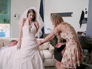 Arousing bride rails the dick like it's the last day of her life