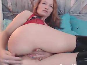 Smoking Hot Honey Fucks Herself With A Massive Fake penis
