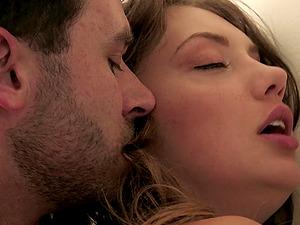 Horny James Deen attacks Elena's fuckhole with his big erection