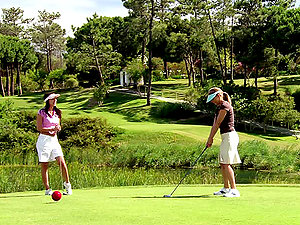 Golfer Women Slurping Each Other.
