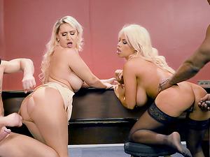 Blonde Mummies Bridgette and Nina love two massive hard-ons