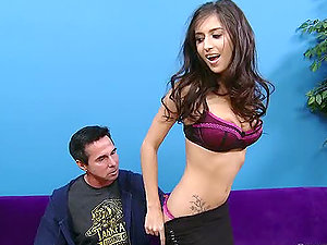 Black-haired bombshell April Oneil having memorable fuck-a-thon with Peter North