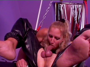 Hard-core Domination & submission session with mistresses clothed in spandex