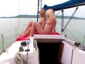 Stella Hot and Jasmin making love at the yacht