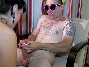 Ris Dar is thrilled to hump a huge pink schlong of a cute guy