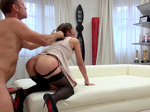 Ass-to-mouth action with Rocco Siffredi turns Alena D on