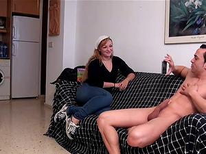 David el moreno boning a blonde with a nice big butt