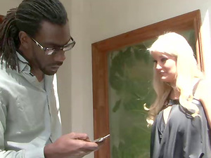Adoring blonde Julie Cash is interested in a pulsating black boner