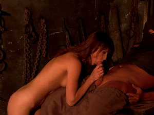 Fascinating reverse cowgirl ride with tiny-titted Theodora Ferreri