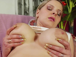 Marina Myatlev wears tights while being fucked by a skillful hunk
