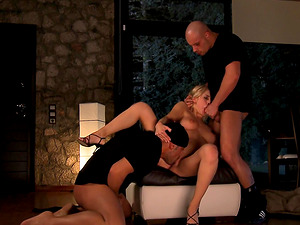 Mandy Dee cannot resist riding a couple of engorged dicks