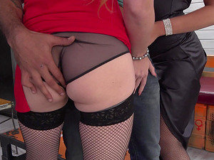 Ayda Swinger and Isabella Lui are curvy babes craving a cock