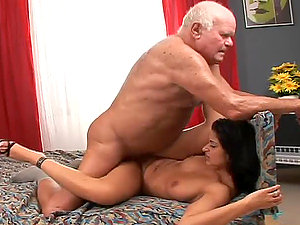 Smoking hot brown-haired escort Tera Joy gets banged by a grandpa