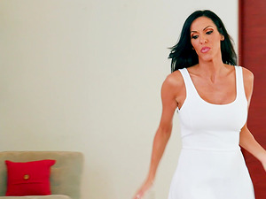 Veronica Rayne takes off her white dress for a horny stud