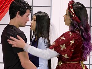 Yurizan Beltran and Brenna Sparks cannot resist a man's throbbing cock