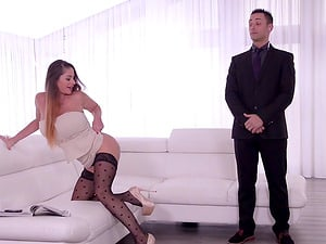 Cathy Heaven seduces a good-looking fellow for an anal fuck